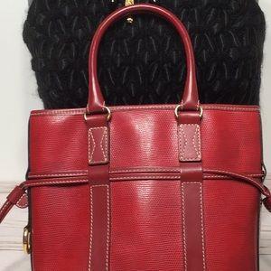 LANCEL red bucket handbag Vintage